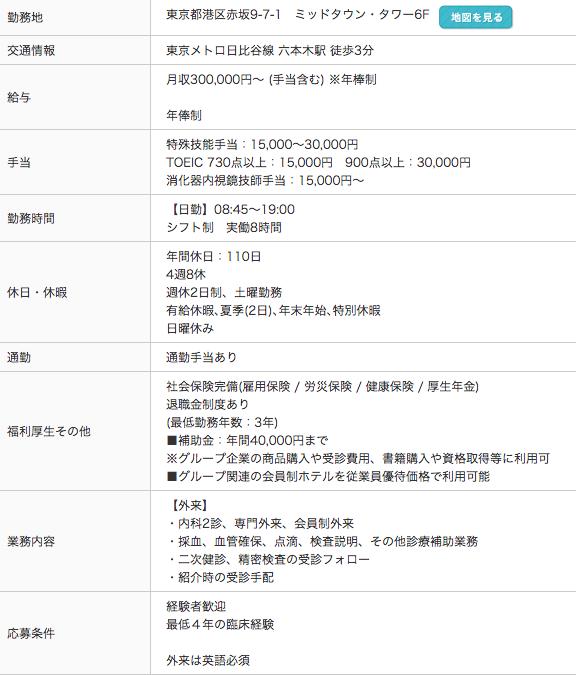 東京ミッドタウンクリニック求人情報